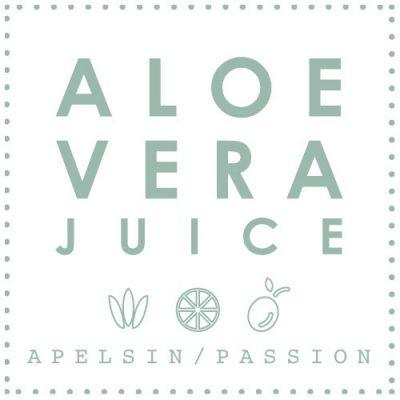 Aloe Vera Juice Apelsin Passion med fruktkött